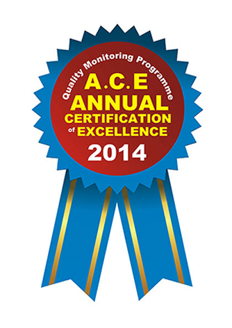 Annual Certificate of Excellence 2014