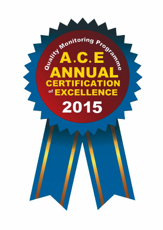 Annual Certificate of Excellence 2015