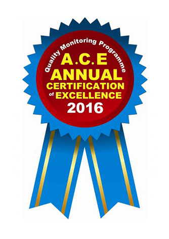 Annual Certificate of Excellence 2016